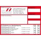 Kennzeichnungsschild ZZ-Systeme Nachbelegung