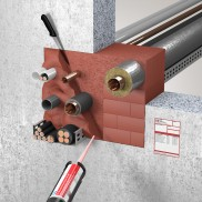 System ZZ-Brandschutzschaum 2K NE in Massivwand